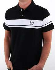 Sergio Tacchini Young Line Polo Shirt in Black & White - tennis McEnroe Dallas