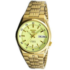 Seiko 5 Automatic Mens Analog Watch Casual Gold SNK578J1 SNK579J1