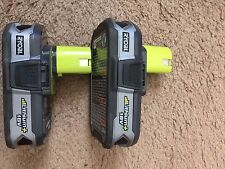 Ryobi One+. 18volt Batteries. Lithium Ion. P107 Compact 2 Pack
