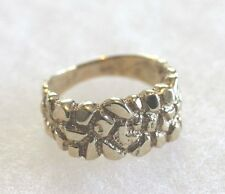 10K Yellow Gold Men's Nugget Ring Size 7 Over 5 Grams