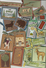 U CHOOSE Homemade Handmade SCRAPBOOKING TAGS assorted outdoors cowboy farm etc