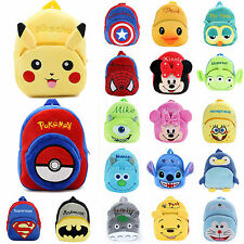 Toddler Baby Girl Boy 3D Cartoon Schoolbag Kid Plush Anime Backpack Shoulder Bag