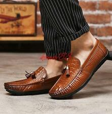 Mens Moccasins gommino Flat Casual Driving Loafer Shoes slip on tassel fashion