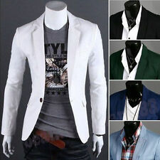 Stylish Men's Casual Slim Fit One Button Suit Blazer Formal Coat Jacket Tops