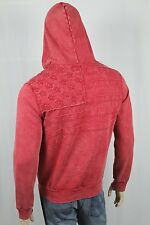 Denim & Supply Ralph Lauren Red Distressed Flag Full Zip Hoodie Sweatshirt N
