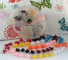 56 Assort. Sizes Oval Safety Noses Buttons Eyes Sew Crochet Amigurumi ON-56