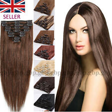 """16""""18""""20""""22"""" Clip In Remy Human Hair Extensions Real Human Hair Extension A392"""