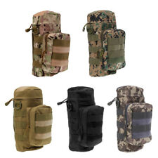 Tactical Military Hiking Molle Zipper Water Bottle Kettle Bag Pouch Carrier