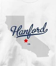 Hanford, California CA MAP Souvenir T Shirt All Sizes & Colors
