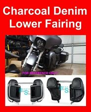 Charcoal Denim Lower Vented Fairings Kit for 2014-2017 Harley Street Road Glide