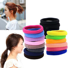 lots 50Pcs Women Girl Hair Band Ties Elastic Rope Ring Hairband Ponytail Holder