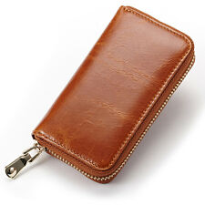 New Arrived Men Car Key Chain Genuine Leather Coin Purse Clutch Mimi Wallet Gift