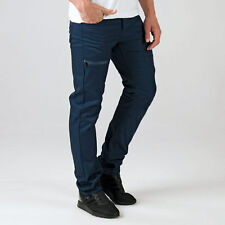 Mens Eto Em574 Tapered Fit Jeans In Navy-Button Fly-Belt Loops To Waist-Multiple