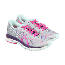 Asics Gel-Kayano 23 Womens Gray Pink Mesh Athletic Lace Up Running Shoes