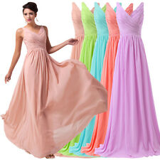 Hot! Formal Long Chiffon Bridesmaid Ball Gown Party Cocktail Evening Prom Dress#