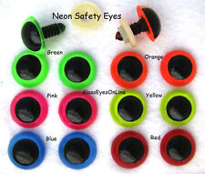 12 pair Safety Eyes Neon 12mm to 18mm Teddy Bear, Doll, Puppet, Monster NPE-1
