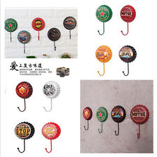 Retro Metal Sign Tin Beer Bottle Cap Cover Hook  Bar Club Cafe Home Wall Decor