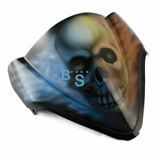 Airbrushed Skull Flames Windscreen Windshield Fit Honda Fairing motorcycle