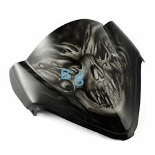 Airbrushed White Skull Windscreen Windshield Fit Honda Fairing motorcycle