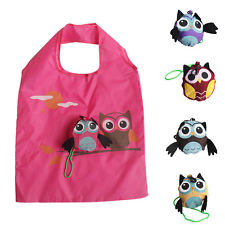 Lovely Reusable Storage Bag Foldable Shopping Bag Tote Cute Animal Purse Eco New