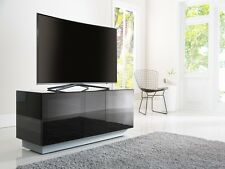 Element Modular Glass Tv Cabinet Stands - Black Grey White