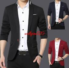 Fashion Mens Slim Fit Stylish Casual one Button Suit Coat Jacket Blazers outwear