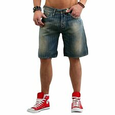 GAS Men's Bermuda Shorts Raf Chalk Denim Blue W624