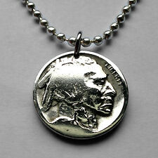 USA 5 cent Buffalo Indian Head nickel coin pendant charm American bison n000563