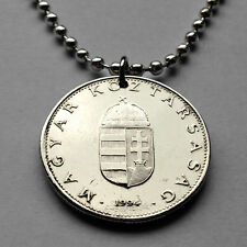 Hungary 10 forint coin pendant Hungarian necklace holy Crown Budapest n001552