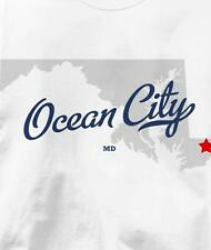 Ocean City, Maryland MD MAP Souvenir T Shirt All Sizes & Colors