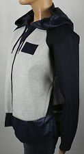 Nike Navy Grey Blue Full Zip Hooded Mixed Material Cocoon Mesh Jacket NWT $200
