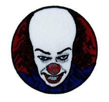 Pennywise Scary Clown Patch Iron on Applique Horror Clothing Stephen King It