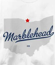Marblehead, Ohio OH MAP Souvenir T Shirt All Sizes & Colors
