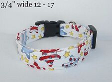 Whimsical Stars & Stripes Terri's Dog Collar handmade charm adjustable 4th July