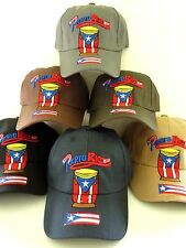 PUERTO RICO FLAG CONGA 3-D EMBROIDERY ADULT BASEBALL CAP HAT ADJUSTABLE