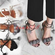 Fashion Womens Summer Strappy Pump High slim Heels Evening Party Sandals Shoes