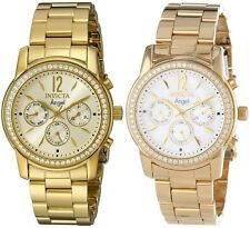 Invicta Women's Angel Gold Dial 18k Gold Ion-Plated Stainless Steel Watch
