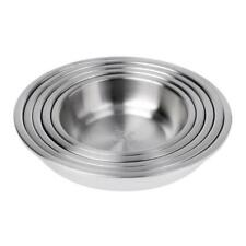 Heavy Duty Food Grade 304 Stainless Steel Round Thick Deep Plate Picnic Dish