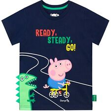 George Pig T-Shirt | Boys Peppa Pig George Short Sleeve Tee | George Pig Top | N