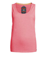 New Womens Superdry Factory Second Orange Sewn Low Arm Hole Vest Top Fluro Pink