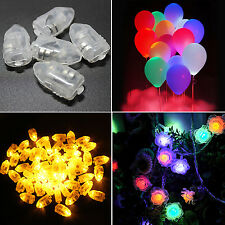 CH 10pcs/lot LED Light White Balloon Lamp For Paper Lantern Wedding Party Decor