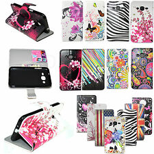 Flip PU leather Magnetic Slot Cover Stand Wallet Case For Samsung Galaxy J2 J200