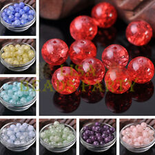 20pcs 12mm Round Crystal Glass Charms Loose Spacer Beads Jewelry Making DIY