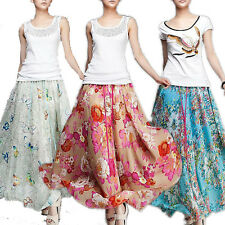 Summer NEW Women's Bohemia Floral Skirt Chiffon Long Dress Maxi dress / Skirt