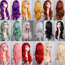 High Temperature Anime 70CM Long Curly Hair Wig Synthetic Cosplay Party 13 Color