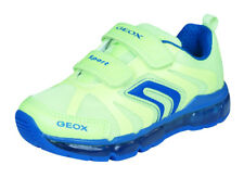 Geox J Android B Boys Sneakers / No Laces Sports Shoes - Yellow - See Sizes
