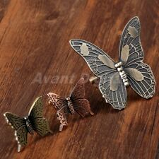 Butterfly Handles Antique Kitchen Cabinet Knob Drawer Pulls Cupboard Door Knobs