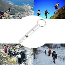Aluminum Alloy Emergency Survival Whistle Outdoor Hiking Keychain Multicolor HT