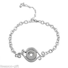 Wholesale Lots Snap Chain Bracelet Fit Snap Button Eye Connector 19cm