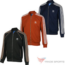 adidas ORIGINALS SUPERSTAR TRACK TOP GREEN RED NAVY RETRO RUN DMC CASUALS MEN'S